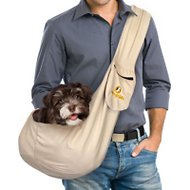 FurryFido Adjustable Pet Sling With Pocket, Khaki