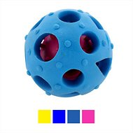 FurryFido Interactive Treat Dispensing Soccer Ball Dog Chew Toy, Blue