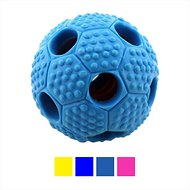 FurryFido Interactive Treat Dispensing Soccer Ball Dog Chew Toy, Navy
