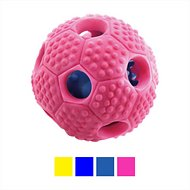 FurryFido Interactive Treat Dispensing Soccer Ball Dog Chew Toy, Pink