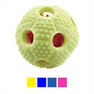 FurryFido Interactive Treat Dispensing Soccer Ball Dog Chew Toy, Yellow
