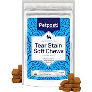 Petpost Tear Stain Soft Chews for Dogs, Chicken Flavor, 90-count