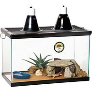 Zilla Desert Reptile Terrarium Starter Kit with Light and Heat, 10 gallon