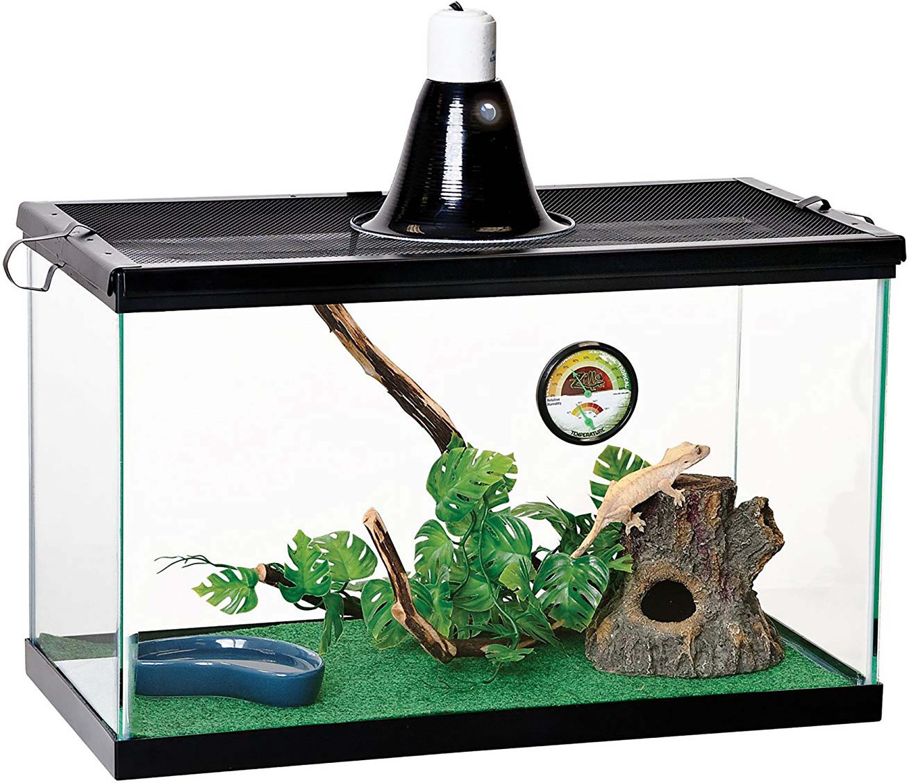 Zilla Tropical Reptile Terrarium Starter Kit With Light And Heat 10