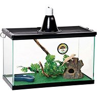 Zilla Tropical Reptile Terrarium Starter Kit with Light and Heat, 10-gal
