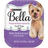 Purina Bella with Chicken & Liver in Savory Juices Small Breed Dog Food Trays, 3.5-oz, case of 12