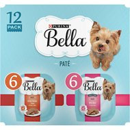 Purina Bella Grilled Chicken &  Beef Flavor Variety Pack Small Breed WetDog Food Trays, 3.5-oz, case of 12