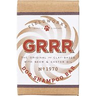Fieldworks GRRR Dog Shampoo Bar with Neem & Castor Oil, 5.75-oz