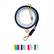 Found My Animal Adjustable Ombré Rope Dog Leash, 7-ft, Small, Indigo