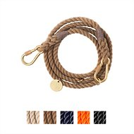 Found My Animal Adjustable Rope Dog Leash, Dark Tan, 7-ft, Small