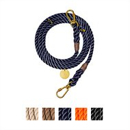 Found My Animal Adjustable Rope Dog Leash, Navy, 7-ft, Large