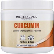 Dr. Mercola Curcumin Dog & Cat Supplement, 4.30-oz jar