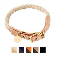 Found My Animal Rope & Leather Dog & Cat Collar, X-Small, Light Tan