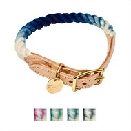 Found My Animal Ombre Rope & Leather Dog & Cat Collar, Indigo, Medium