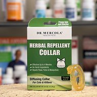 Dr. Mercola Herbal Flea, Tick & Mosquito Repellent Collar for Cat & Kitten, 0.4-oz, 1 Collar