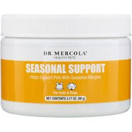 Dr. Mercola Seasonal Support Dog & Cat Supplement, 3.17-oz jar