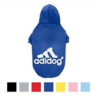 ADIDOG Dog Hoodie, Royal Blue, Size 6