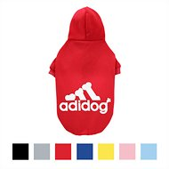 ADIDOG Dog Hoodie, Red, Large