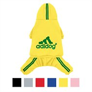 ADIDOG Dog Tracksuit, Small Breed Dogs, Yellow, Medium