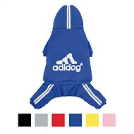 ADIDOG Dog Tracksuit, Royal Blue, Medium, Small Breed Dogs