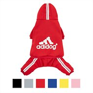 ADIDOG Dog Tracksuit, Medium Breed Dogs, Red, Large