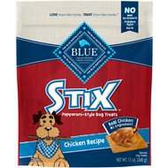 Blue Buffalo Blue Stix Chicken Recipe Pepperoni-Style Dog Treats, 13-oz bag