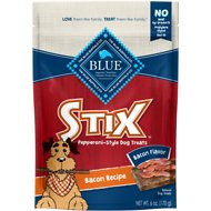 Blue Buffalo Blue Stix Bacon Flavor Pepperoni-Style Dog Treats, 6-oz bag