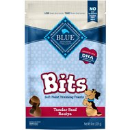Blue Buffalo Blue Bits Tender Beef Recipe Soft-Moist Training Dog Treats, 9-oz bag