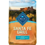 Blue Buffalo Santa Fe Grill Chicken, Brown Rice, Chickpeas & Tomatoes Dry Dog Food, 22-lb bag