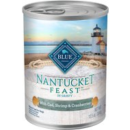 Blue Buffalo Nantucket Feast with Cod, Shrimp & Cranberries Canned Dog Food, 12.5-oz, case of 12