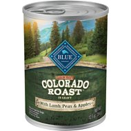 Blue Buffalo Colorado Roast with Lamb, Peas & Apples Grain-Free Canned Dog Food, 12.5-oz, case of 12