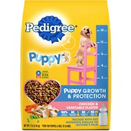 Pedigree Puppy Growth & Protection Chicken & Vegetable Flavor Dry Dog Food, 7-lb bag