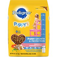 Pedigree Puppy Growth & Protection Chicken & Vegetable Flavor Dry Dog Food, 28-lb bag