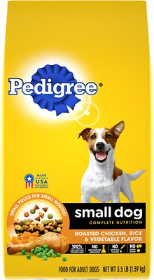 pedigree small dog complete nutrition roasted chicken rice