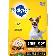 Pedigree Small Dog Complete Nutrition Roasted Chicken, Rice & Vegetable Flavor Small Breed Dry Dog Food
