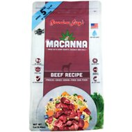 Grandma Lucy's Macanna Beef Recipe Freeze-Dried Grain-Free Dog Food, 1-lb bag