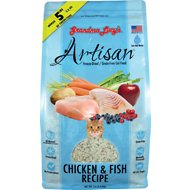 Grandma Lucy's Artisan Grain-Free Chicken & Fish Freeze-Dried Cat Food, 1-lb bag