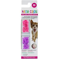 Kitty Caps Cat Nail Caps, Medium, Hot Purple & Hot Pink
