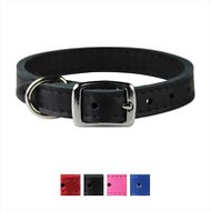 OmniPet Signature Leather Dog Collar, 12-inches, Black