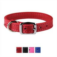 OmniPet Signature Leather Dog Collar, Red, 8 - 10 in