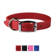 OmniPet Signature Leather Dog Collar, Red, 14 - 18 in