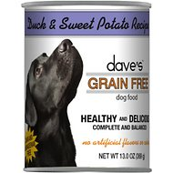 Dave's Pet Food Grain-Free Duck & Sweet Potato Recipe Canned Dog Food, 13-oz, case of 12