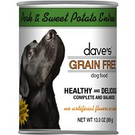 Dave's Pet Food Grain-Free Roasted Pork & Sweet Potato Canned Dog Food, 13-oz, case of 12