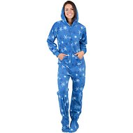 Footed Pajamas It's A Snow Day Unisex Adult Fleece Pajamas, X-Small