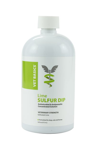 Vet Basics Lime Sulfur Dip Antimicrobial for Dogs, Cats and Horses, 16-oz  bottle