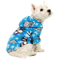 Footed Pajamas Winter Wonderland Dog Fleece Pajamas, X-Small