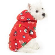 Footed Pajamas Holly Jolly Dog Fleece Pajamas, X-Small