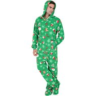 Footed Pajamas Tis The Season Unisex Adult Fleece Pajamas, Medium