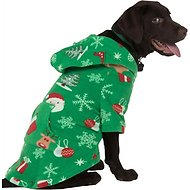 Footed Pajamas Tis The Season Dog Fleece Pajamas, X-Small