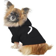 Footed Pajamas Dog Joggies, Black, X-Small